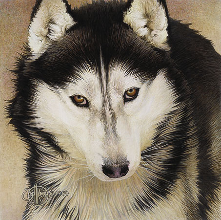 Scott Kennedy - QUIET TIME COMPANIONS-SIBERIAN HUSKY -  LIMITED EDITION PRINT Published by the Greenwich Workshop
