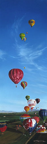 Craig Kodera - THE GREAT GREENWICH BALLOON RACE -  L.E. PRINT Published by the Greenwich Workshop