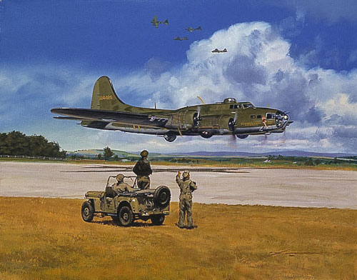 Craig Kodera - MEMPHIS BELLE AND DAUNTLESS DOTTY (CO -  LIMITED EDITION PRINT Published by the Greenwich Workshop