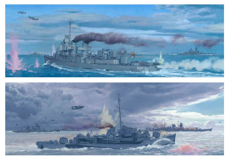 Craig Kodera - The Battle off Samar, Philippines 1944 -  LIMITED EDITION CANVAS Published by the Greenwich Workshop