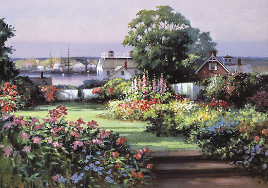Paul Landry - SUMMER GARDEN -  LIMITED EDITION PRINT Published by the Greenwich Workshop
