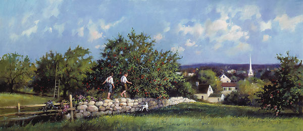 Paul Landry - APPLE ORCHARD -  LIMITED EDITION PRINT Published by the Greenwich Workshop