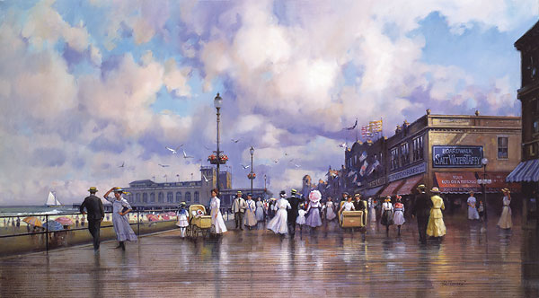 Paul Landry - BOARDWALK PROMENADE -  LIMITED EDITION PRINT Published by the Greenwich Workshop