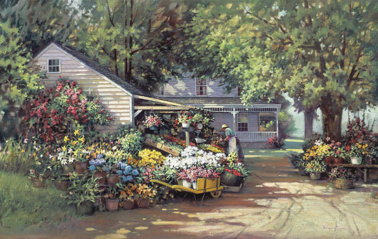 Paul Landry - AUNT MARTHA´S COUNTRY FARM -  LIMITED EDITION PRINT Published by the Greenwich Workshop
