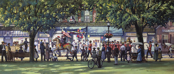 Paul Landry - HOMETOWN PARADE -  LIMITED EDITION PRINT Published by the Greenwich Workshop