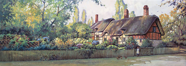 Paul Landry - AN ENGLISH COTTAGE -  LIMITED EDITION PRINT Published by the Greenwich Workshop