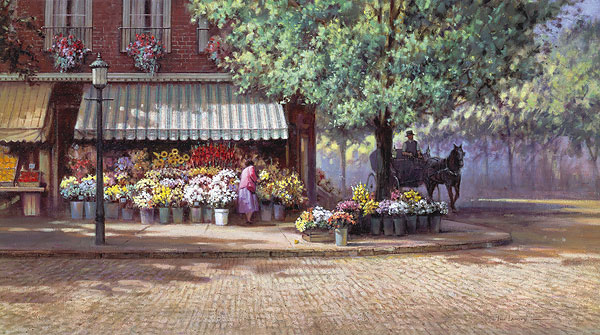 Paul Landry - FLOWERS FOR MARY HOPE -  LIMITED EDITION PRINT Published by the Greenwich Workshop