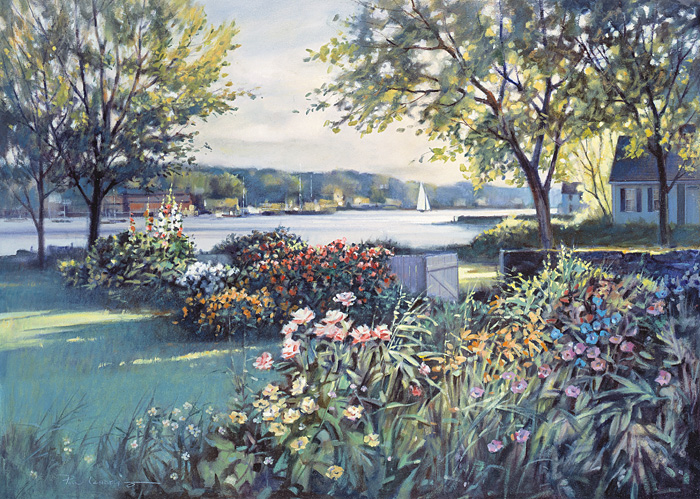 Paul Landry - HARBOR GARDEN -  LIMITED EDITION PRINT Published by the Greenwich Workshop