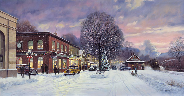 Paul Landry - IT´S A WONDERFUL CHRISTMAS -  LIMITED EDITION PRINT Published by the Greenwich Workshop