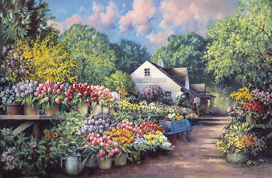 Paul Landry - SPRINGTIME GARDEN -  LIMITED EDITION PRINT Published by the Greenwich Workshop