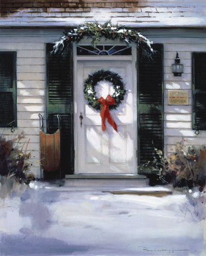 Paul Landry - CHRISTMAS DOOR (REMARQUE) -  LIMITED EDITION PRINT Published by the Greenwich Workshop