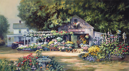 Paul Landry - COUNTRY GARDEN -  LIMITED EDITION PRINT Published by the Greenwich Workshop