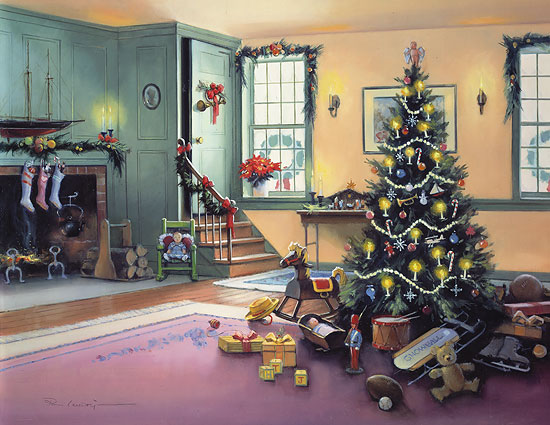Paul Landry - A CHRISTMAS MORNING (REMARQUE) -  LIMITED EDITION PRINT Published by the Greenwich Workshop