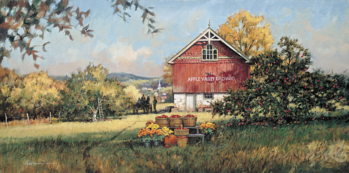 Paul Landry - APPLE VALLEY ORCHARD -  LIMITED EDITION PRINT Published by the Greenwich Workshop