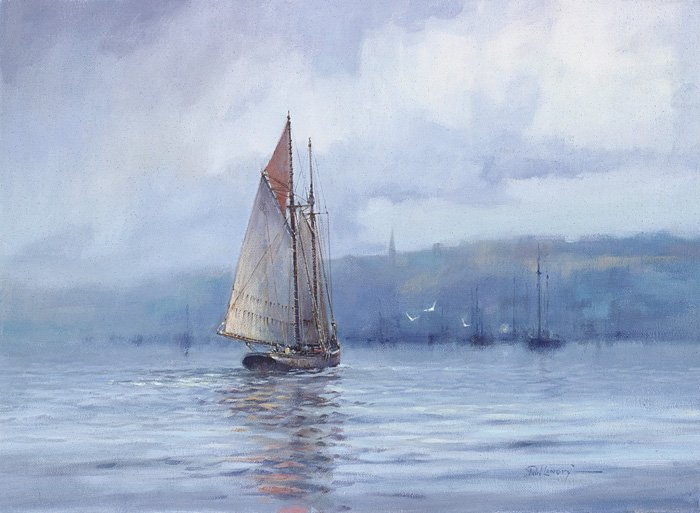 Paul Landry - A SCHOONER´S RETURN -  LIMITED EDITION CANVAS Published by the Greenwich Workshop