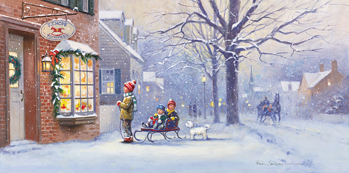 Paul Landry - A CHRISTMAS WISH -  LIMITED EDITION CANVAS Published by the Greenwich Workshop
