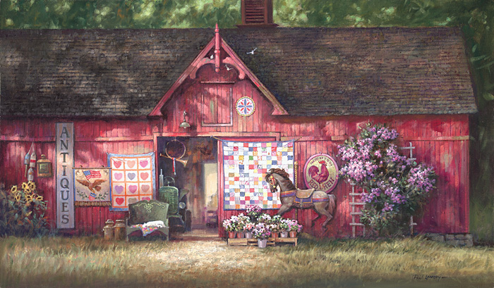 Paul Landry - ANTIQUE BARN -  LIMITED EDITION PRINT Published by the Greenwich Workshop