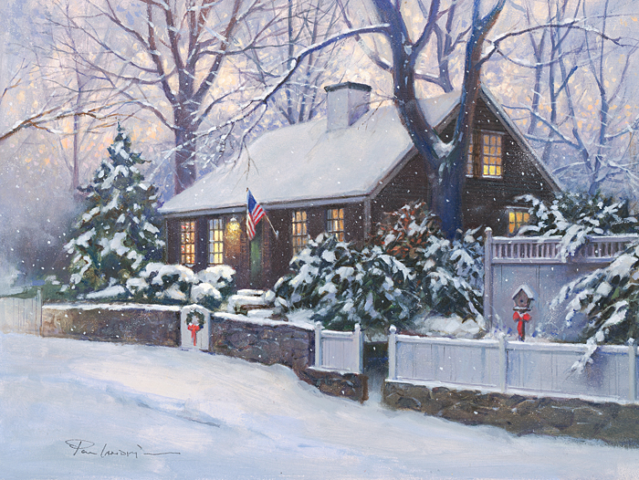 Paul Landry - CAPE COD CHRISTMAS -  LIMITED EDITION PRINT Published by the Greenwich Workshop