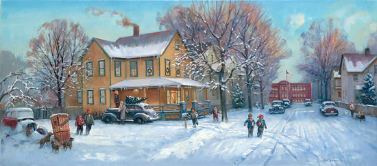 Paul Landry - A Christmas Story -  LIMITED EDITION CANVAS Published by the Greenwich Workshop
