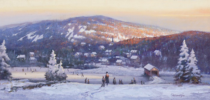 Paul Landry - New England Winter -  LIMITED EDITION CANVAS Published by the Greenwich Workshop
