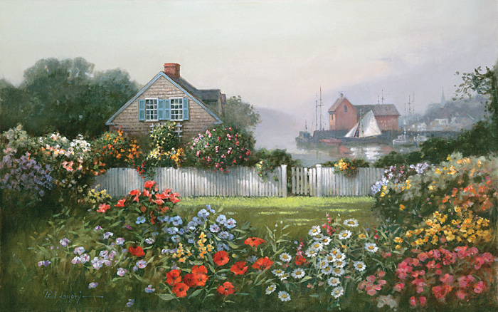 Paul Landry - A Sailor´s Garden -  LIMITED EDITION CANVAS Published by the Greenwich Workshop