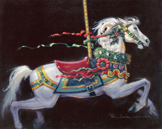 Paul Landry - Christmas Pony -  LIMITED EDITION CANVAS Published by the Greenwich Workshop