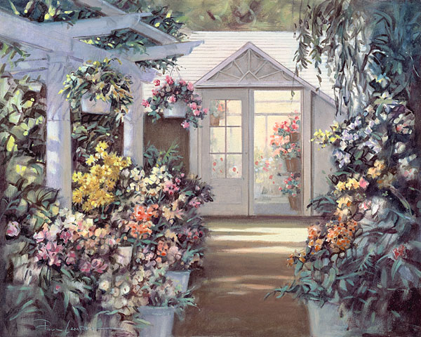 Paul Landry - Greenhouse -  LIMITED EDITION CANVAS Published by the Greenwich Workshop
