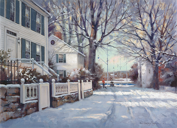 Paul Landry - Southport in Winter -  LIMITED EDITION CANVAS Published by the Greenwich Workshop