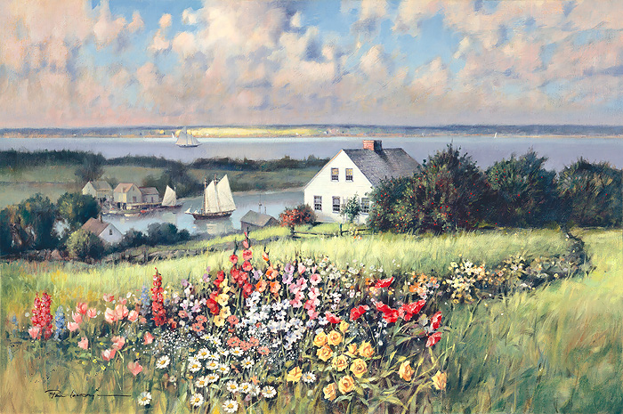 Paul Landry - Summer Hill -  LIMITED EDITION CANVAS Published by the Greenwich Workshop