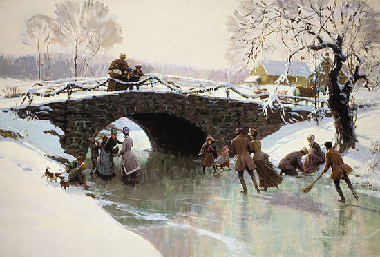 Tom Lovell - WINTER HOLIDAY -  LIMITED EDITION PRINT Published by the Greenwich Workshop