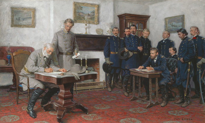 Tom Lovell - Surrender at Appomattox -  MUSEUMEDITION CANVAS Published by the Greenwich Workshop