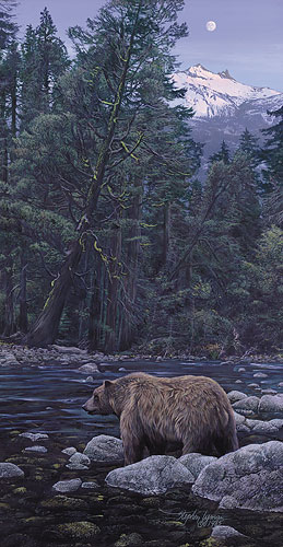 Stephen Lyman - MOONBEAR LISTENS TO THE EARTH -  LIMITED EDITION PRINT Published by the Greenwich Workshop