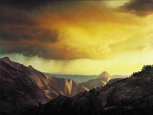 Stephen Lyman - STORM OVER TENAYA CANYON -  LIMITED EDITION PRINT Published by the Greenwich Workshop