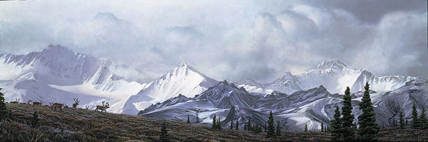 Stephen Lyman - IN THE HEART OF ALASKA -  LIMITED EDITION CANVAS Published by the Greenwich Workshop