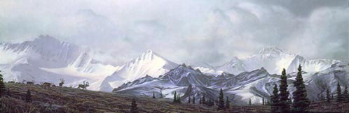 Stephen Lyman - IN THE HEART OF ALASKA -  LIMITED EDITION PRINT Published by the Greenwich Workshop