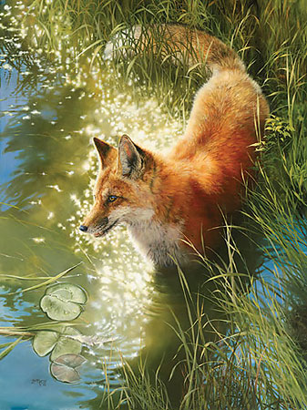 Bonnie Marris - Out Foxed -  LIMITED EDITION CANVAS Published by the Greenwich Workshop