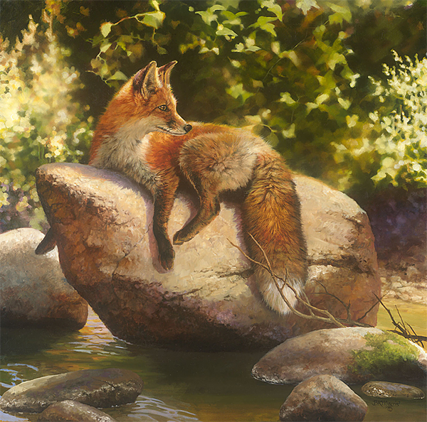 Bonnie Marris - His Favorite Spot -  LIMITED EDITION CANVAS Published by the Greenwich Workshop