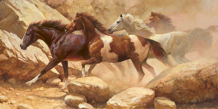 Bonnie Marris - Into Blanco Canyon -  LIMITED EDITION CANVAS Published by the Greenwich Workshop