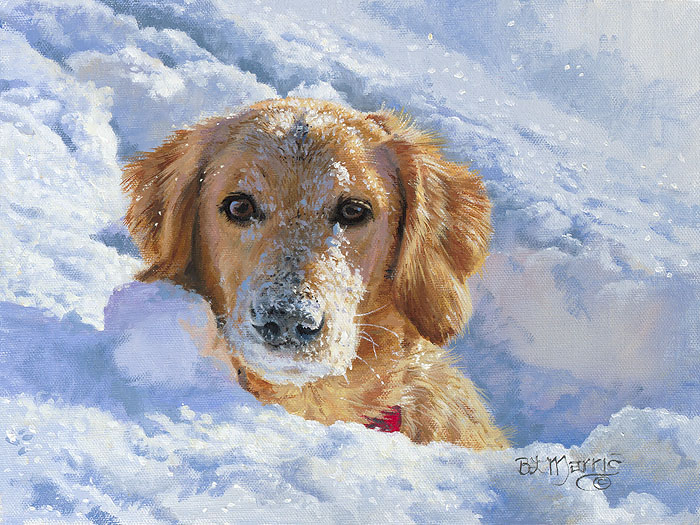 Bonnie Marris - For the Love of Snow -  SMALLWORK CANVAS EDITION Published by the Greenwich Workshop