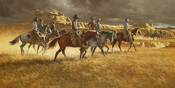Frank C. McCarthy - HEADING BACK -  LIMITED EDITION PRINT Published by the Greenwich Workshop
