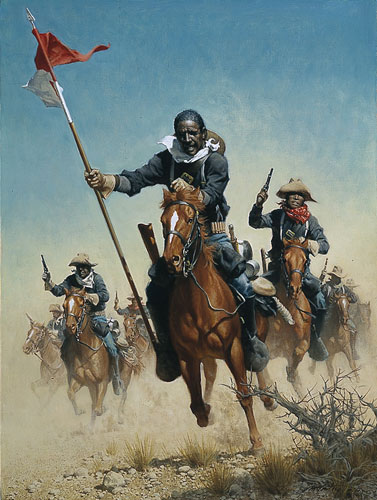 Frank C. McCarthy - CHARGE OF THE BUFFALO SOLDIERS -  LIMITED EDITION PRINT Published by the Greenwich Workshop