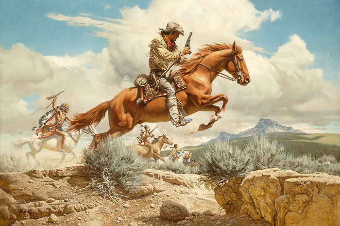 Frank C. McCarthy - Pony Express -  ANNIVERSARY EDITION CANVAS Published by the Greenwich Workshop