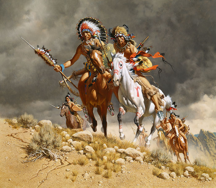 """Cheyenne War Party"" by Frank C. McCarthy"