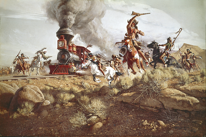 Frank C. McCarthy - Raiding the Iron Horse -  LIMITED EDITION CANVAS Published by the Greenwich Workshop