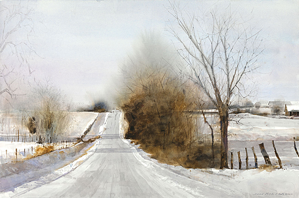 Dean Mitchell - Snow Hills -  LIMITED EDITION PRINT Published by the Greenwich Workshop