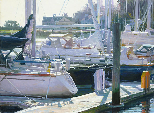 Mo Dafeng - Southport Marina -  LIMITED EDITION CANVAS Published by the Greenwich Workshop