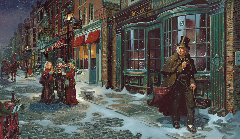 dean morrissey a christmas carol limited edition canvas published by the greenwich workshop - When Was A Christmas Carol Published