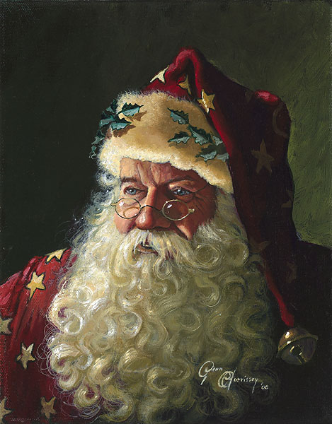 Dean Morrissey - Portrait of Father Christmas -  SMALLWORK CANVAS EDITION Published by the Greenwich Workshop
