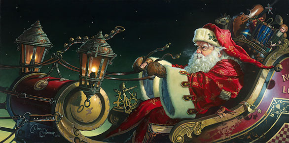 Dean Morrissey - Father Christmas: The Sleigh Ride -  LIMITED EDITION CANVAS Published by the Greenwich Workshop