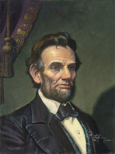 Dean Morrissey - Study for Abraham Lincoln: The Great Emancipator -  LIMITED EDITION CANVAS Published by the Greenwich Workshop